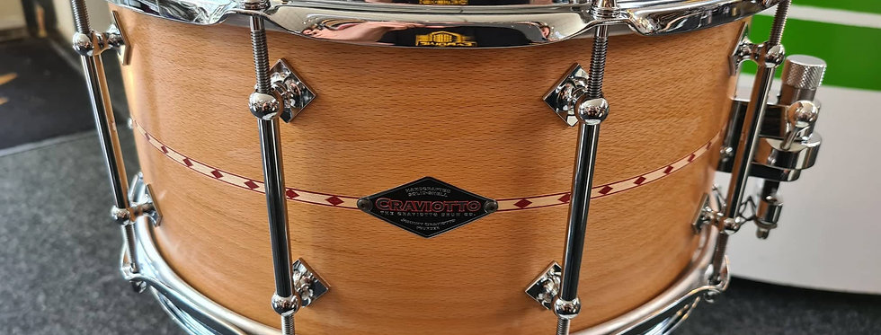 Craviotto 14x7 Customshop Beech w/ Red inlay