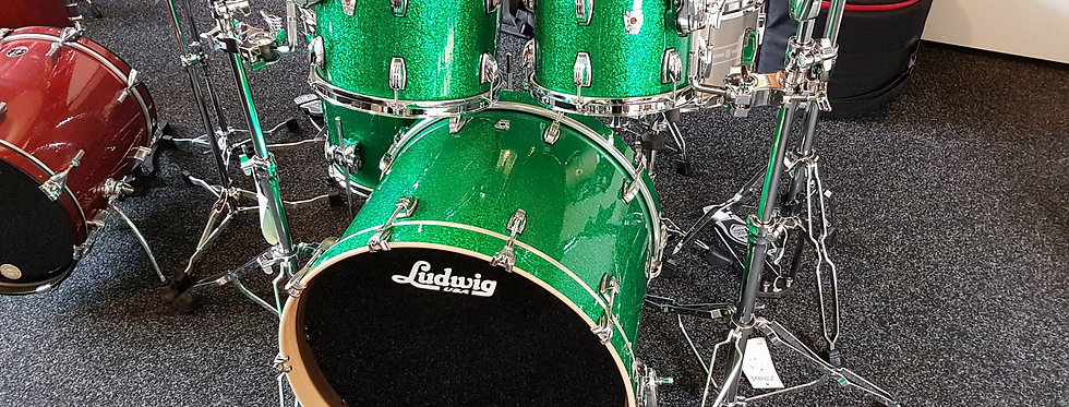 Ludwig Keystone X Mod in Green Sparkle