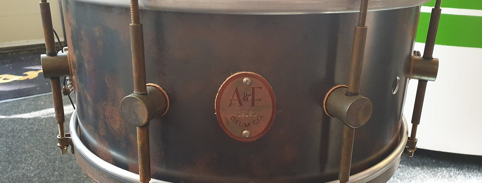 A&F Drum Co. 14x6.5 Raw Steel