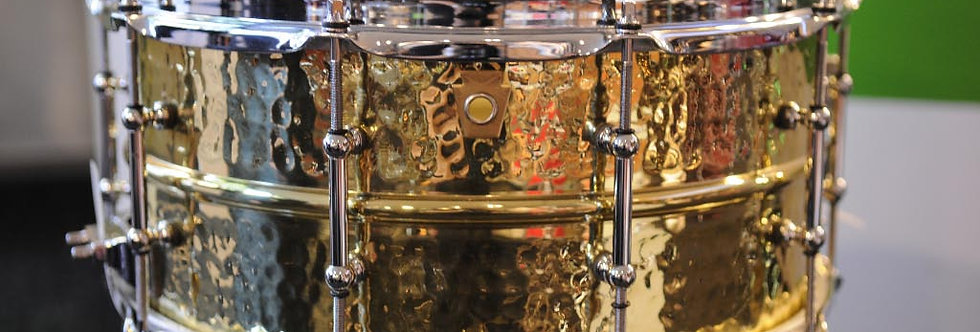 Ludwig Hammered Brass 14x6.5 LB422BKT