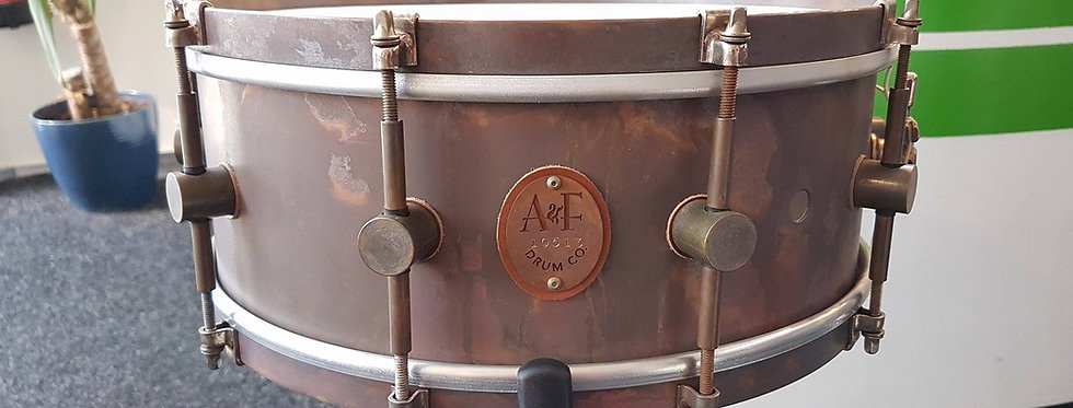 A&F Drum Co. 14x5.5 Raw Brass