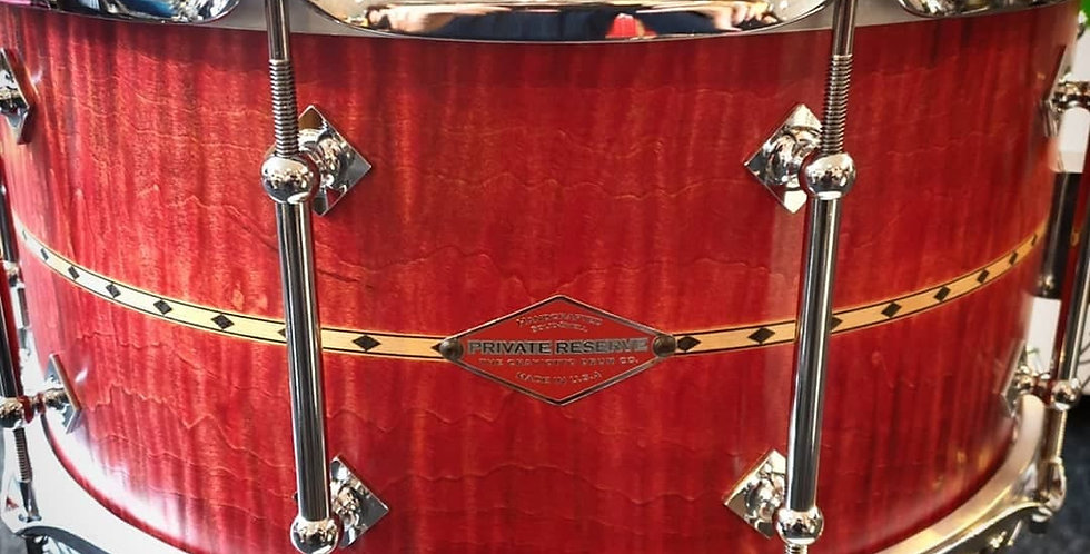 Craviotto Private Reserve 14x7 Curly Maple Cherry Stain