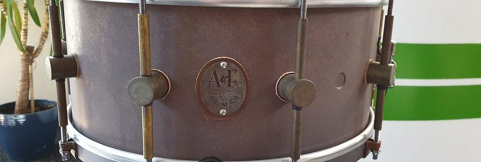 A&F Drum Co. 14x6.5 Raw Brass