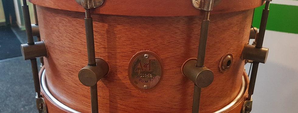 A&F Drum Co. 14x7 Mahogany w/ Mahogany hoops