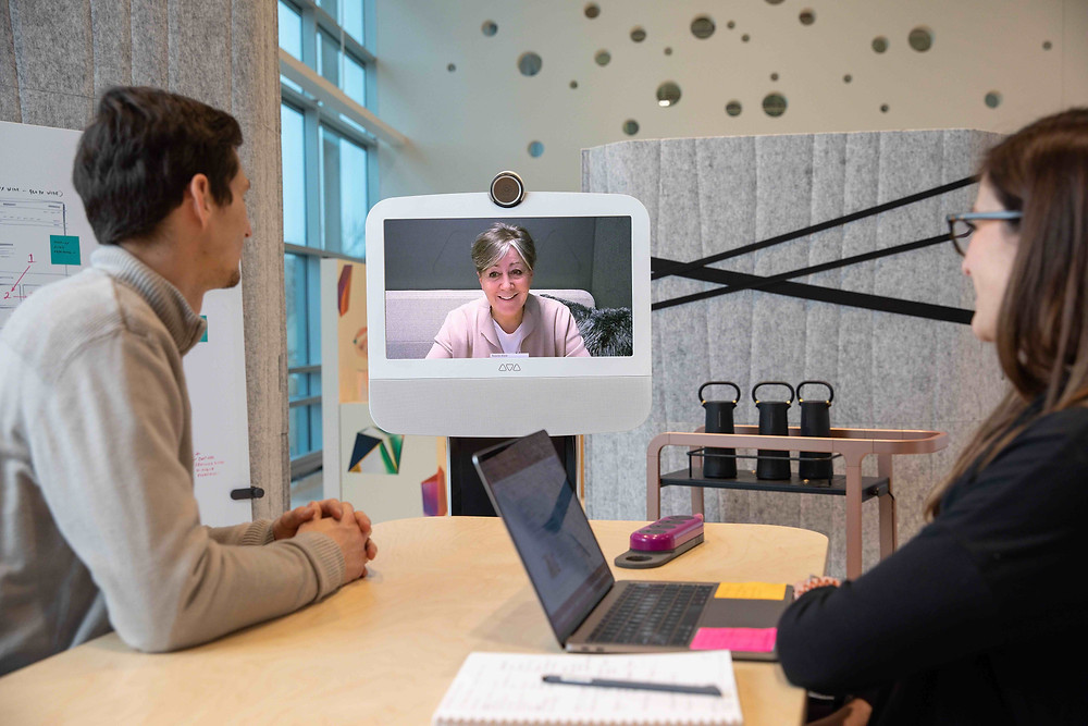 Steelcase uses Ava Robotics to optimize the telepresence experience for remote employees.