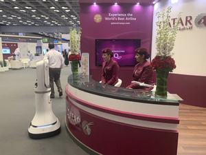 Ava Robotics partnered with Hamad International Airport (HIA) and Qatar Airways to feature the power of their telepresence robot