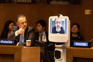 Olafur Eliason at UN-Habitat Roundatble on Floating Cities