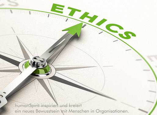 Menschen und Organisationen müssen sich jetzt mit Ethik beschäftigen!