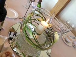 fishbowl lillies & grasses