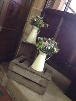 Dodford Church - Crates and jugs