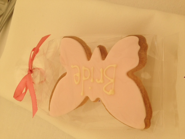 Bride butterfly biscuit