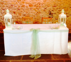 Dodford - ceremony table mint