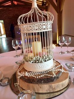 Birdcage candle centre piece