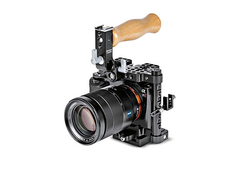 Manfrotto DSLR Camera Cage with Wooden Camera Handle