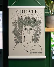 Spiritual Papercut Artwork - Create Your Reality