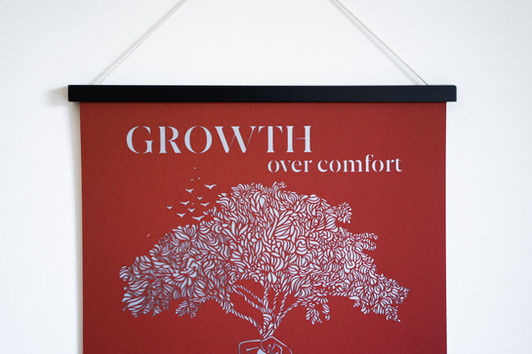 Moxon Poster Frames - Growth Over Comfort