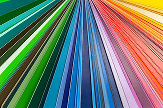 Color fan chart catalog spectrum of all