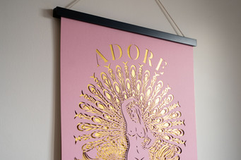Spiritual Papercut Artwork - Adore Every Inch