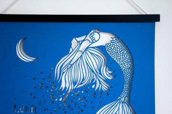 Spiritual Papercut Artwork - Let it Flow