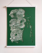 Spiritual Papercut Artwork - Nourish
