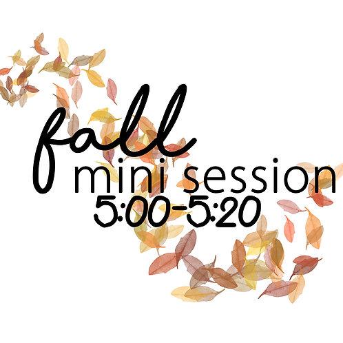 Fall Mini 10.30 @5:00
