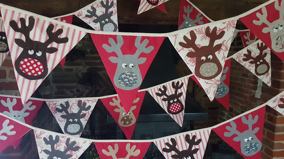 Rudolf and the Gang Giant Bunting - Bright Red