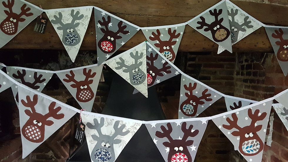 Rudolf and the Gang Giant Bunting - Grey