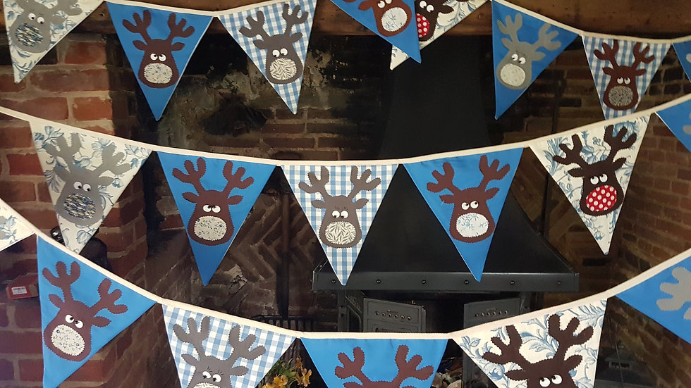 Rudolf and the Gang Giant Bunting - Blue