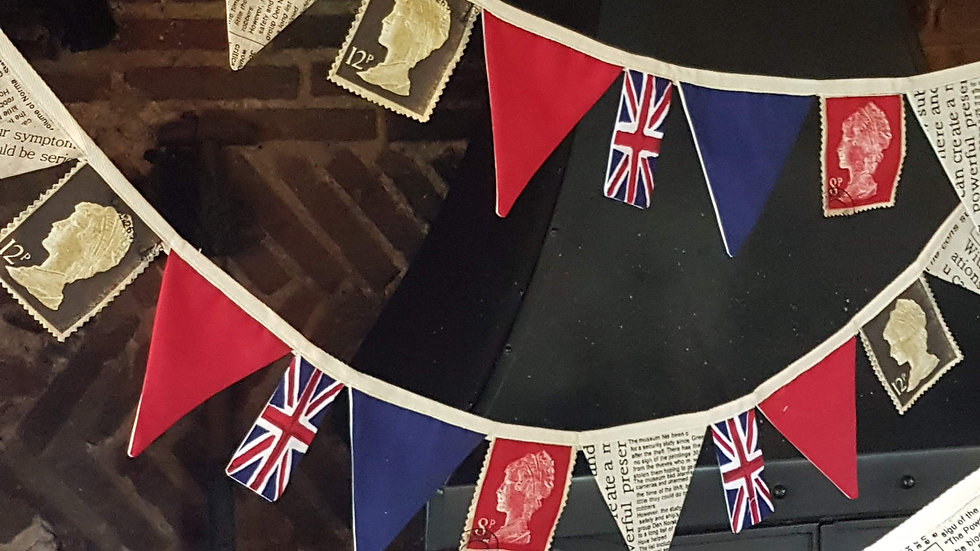Retro Style Union Jack Mini Bunting