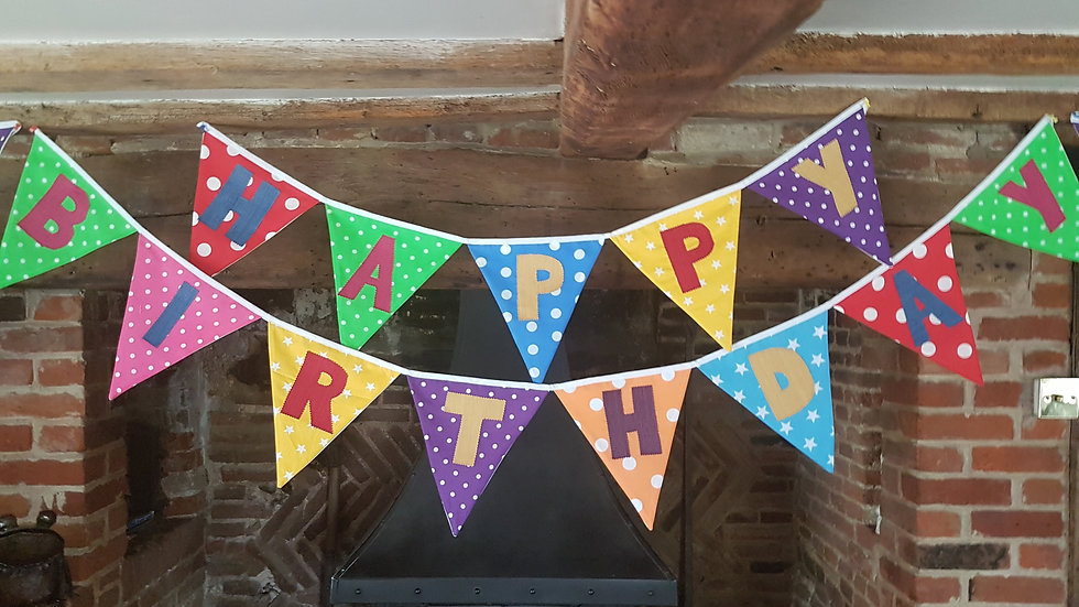 Giant Happy Birthday Bunting