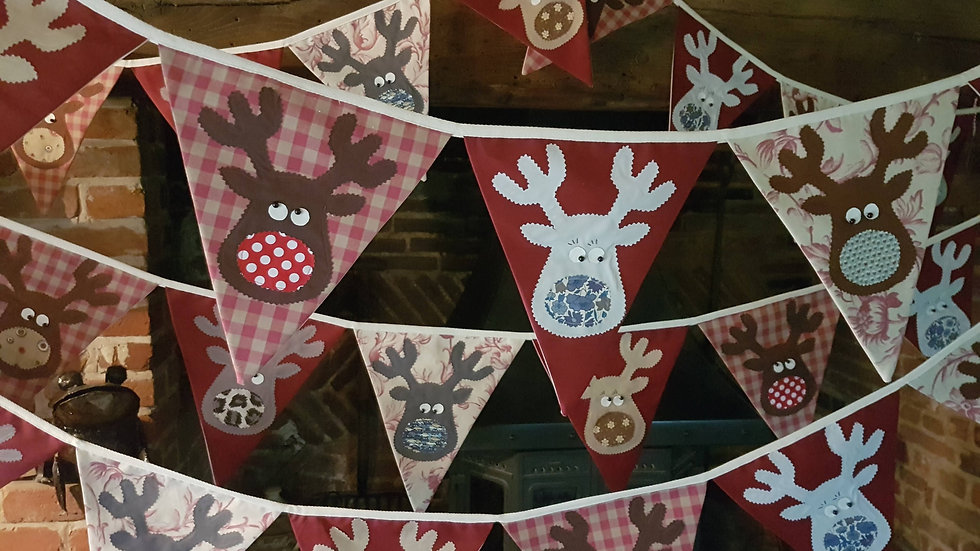 Rudolf and the Gang Giant Bunting - Dark Red