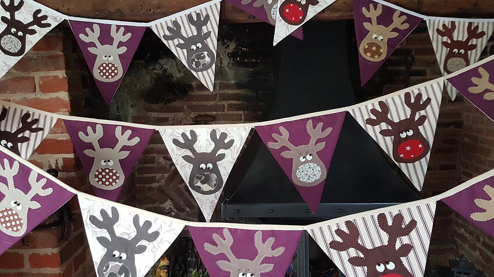 Rudolf and the Gang Giant Bunting - Purple