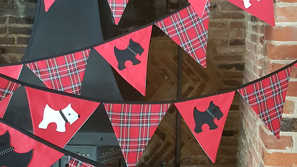 Scottie and Westie Dog Giant Bunting