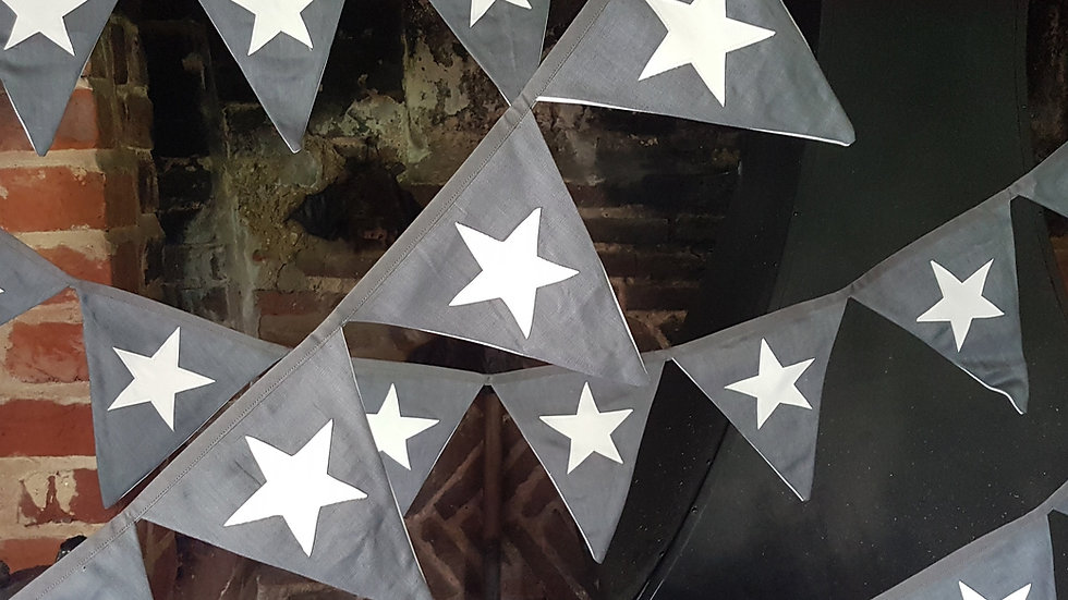 Grey Star Midi Bunting