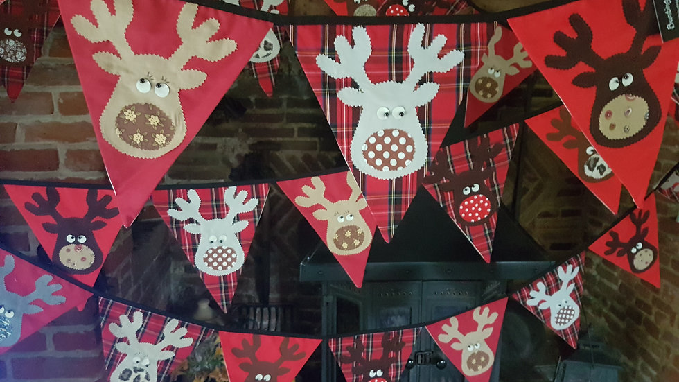 Rudolf and the Gang Giant Bunting - Red Tartan