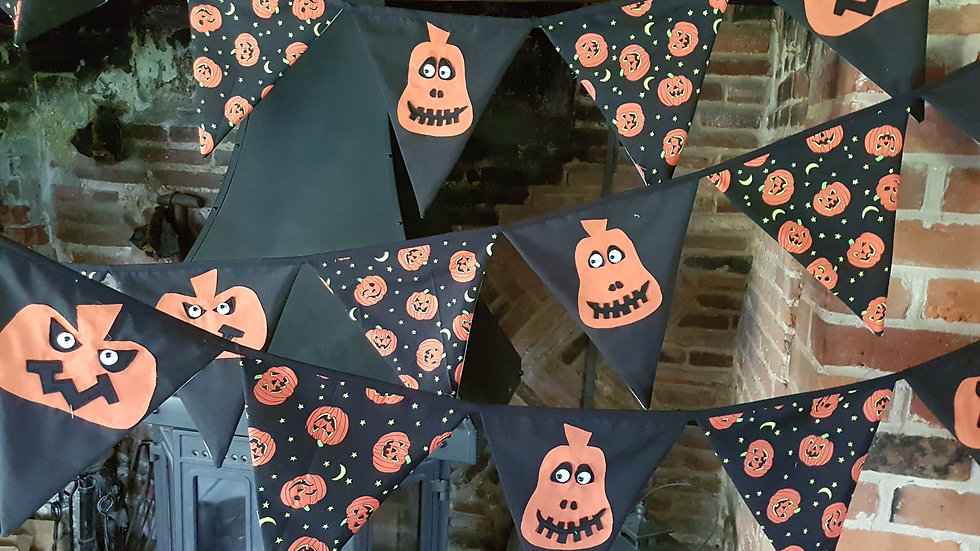 Orange Pumpkin Halloween Bunting