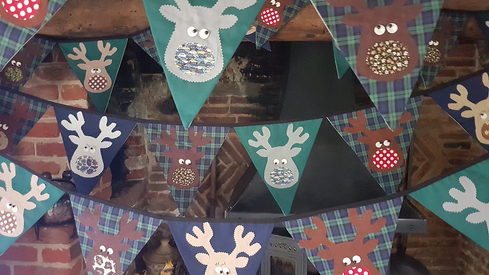 Rudolf and the Gang Giant Bunting - Black Watch Tartan