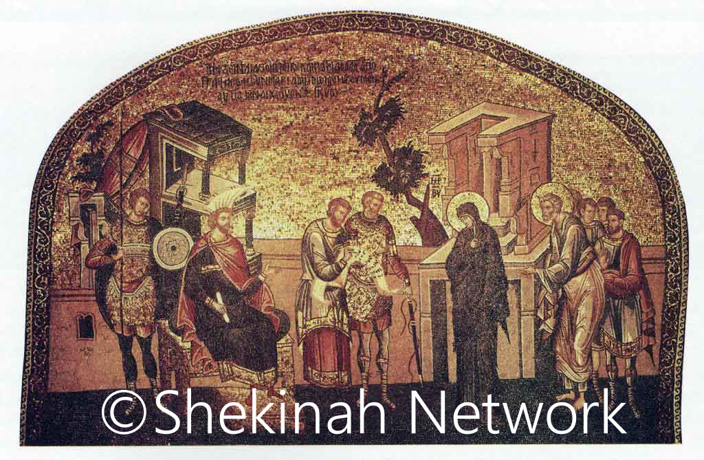 Herod Studies Mary And Joseph