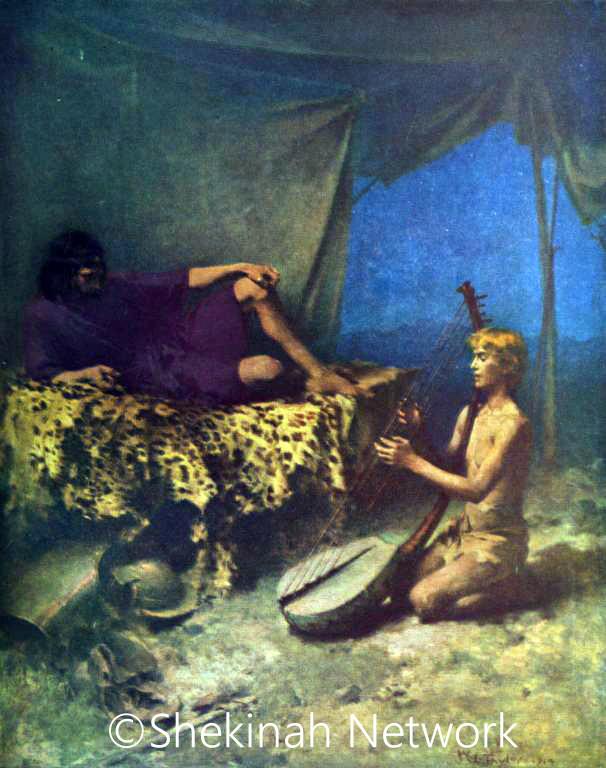 David Plays The Harp For Saul
