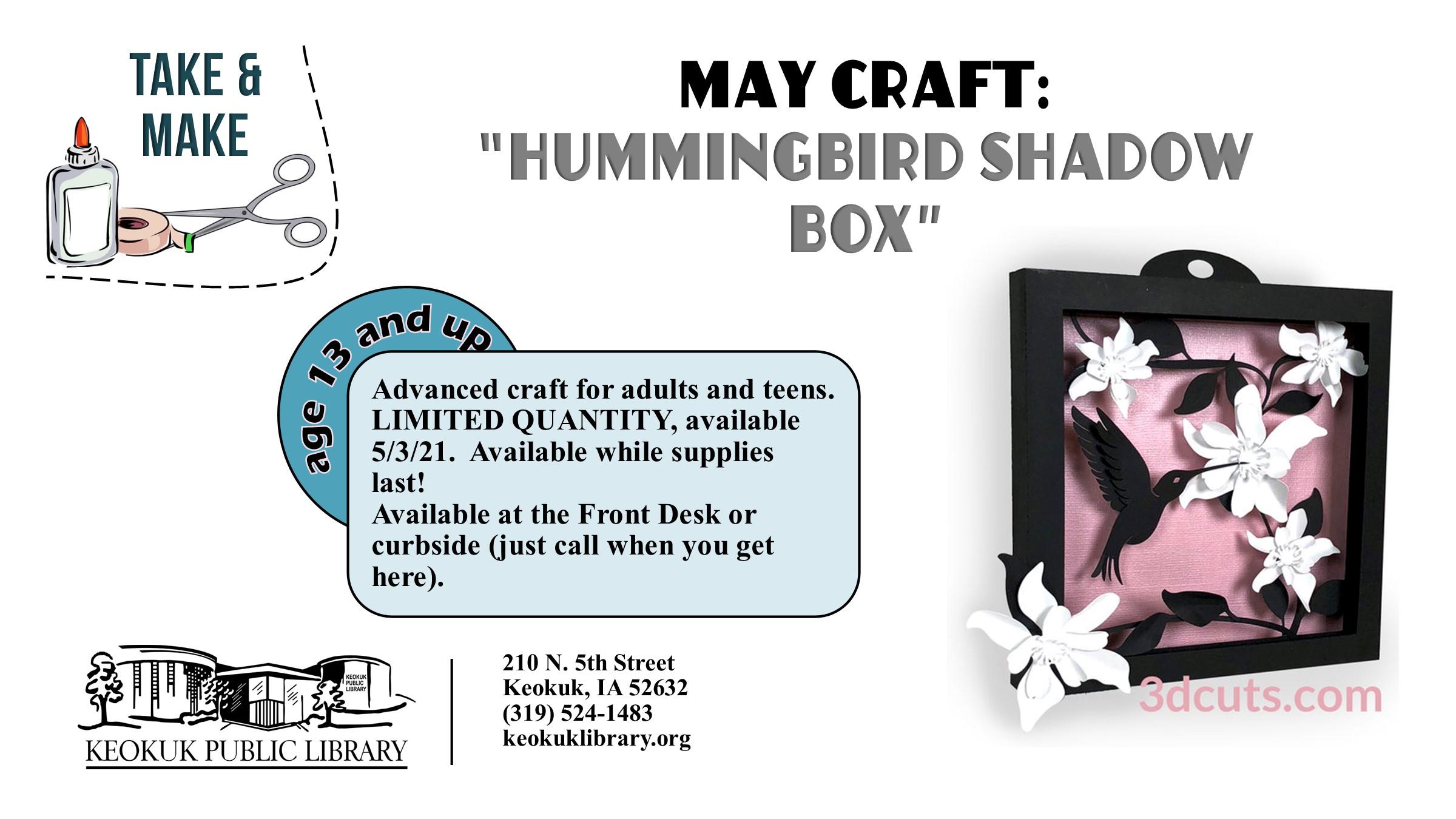 Hummingbird Shadow Box Craft