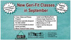 New Geri-Fit Classes in September