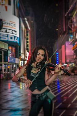 Xiren Wang Violinist Times Sq