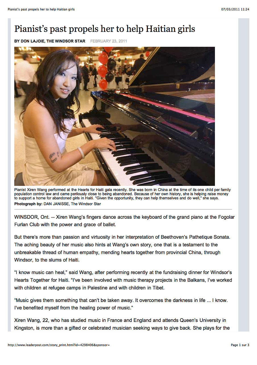 Xiren Wang Windsor Star feature