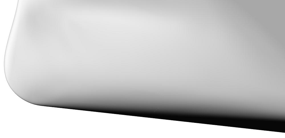 Shaded hull shape for preliminary model.