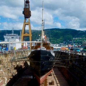 Ship hull shape reconstruction.