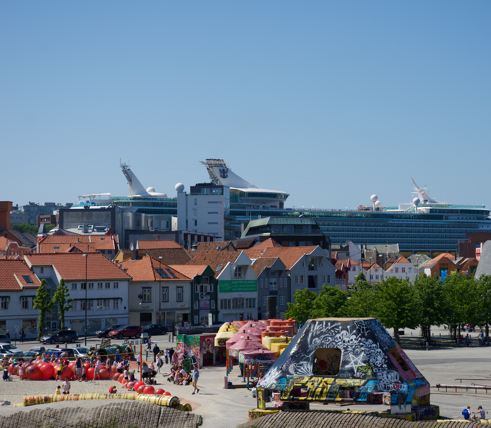 View of the playground near the oil museum