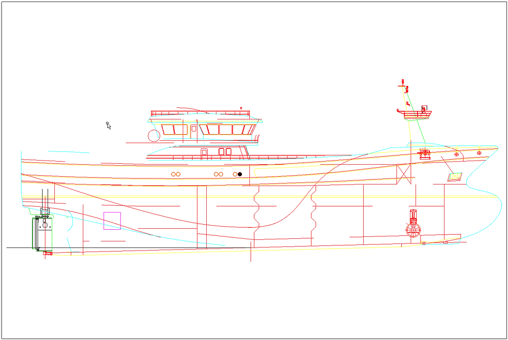 View prepared in AutoCAD.
