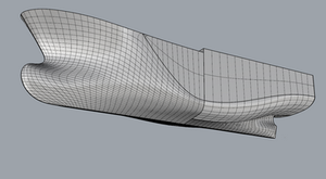 Example of IGES file from Shape maker imported into Rhino.