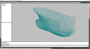 Selected volume in 3D view.