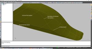 Deadrise hull surface modeling.